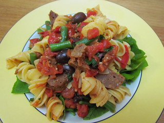 Fusilli with Green Beans and Tomatoes