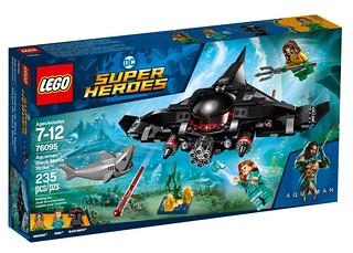 黑蝠鱝人偶的造型實在太帥啦~~ LEGO 76095 DC Superheroes 系列《水行俠》黑蝠鱝進擊 Black Manta Strike