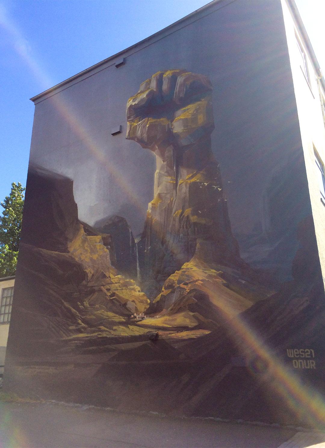 Awesome mural in Reykjavik