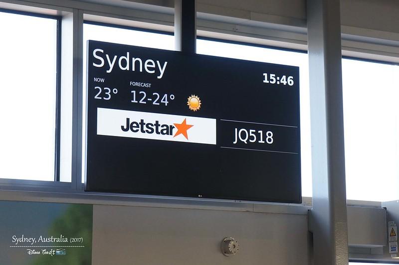 2017 Australia Melbourne to Sydney Via Jetstar