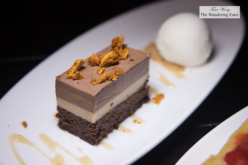 Milk & Honey, milk chocolate peanut butter cake, honeycomb, milk & honey ice cream