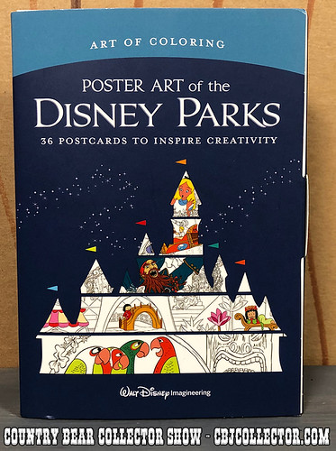 2018 Art of Disney Parks Postcard Coloring Book - Country Bear Collector Show #161