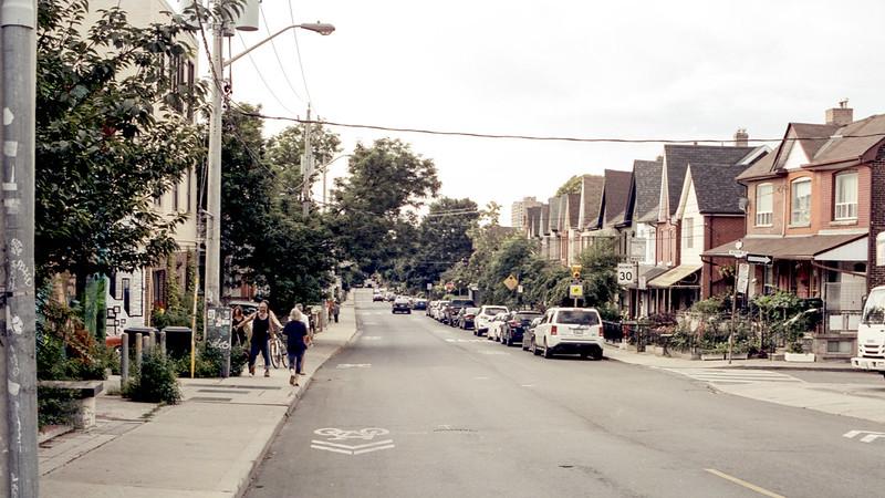 Looking Down Brock Avenue