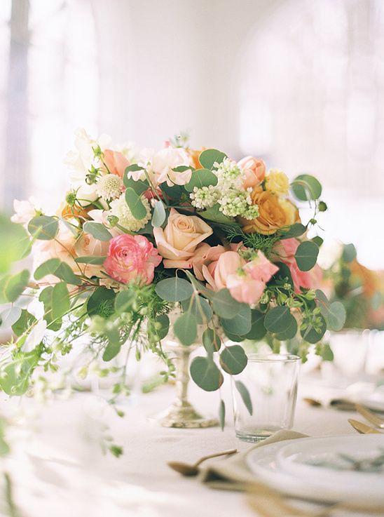 Weddings Flower Arrangements : pink and peach floral centerpiece wedding chicks