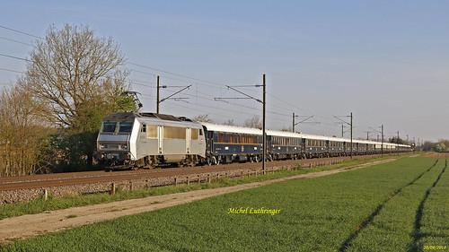BB 26004-Cernay- Train VSOE Calais-Venise à Habsheim