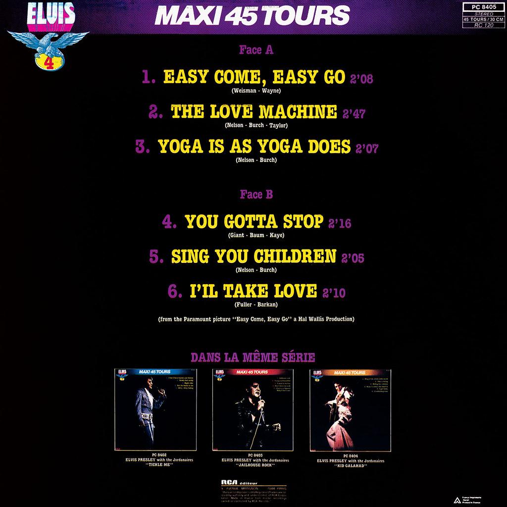 Elvis Presley - Maxie 45 Tours vol 4
