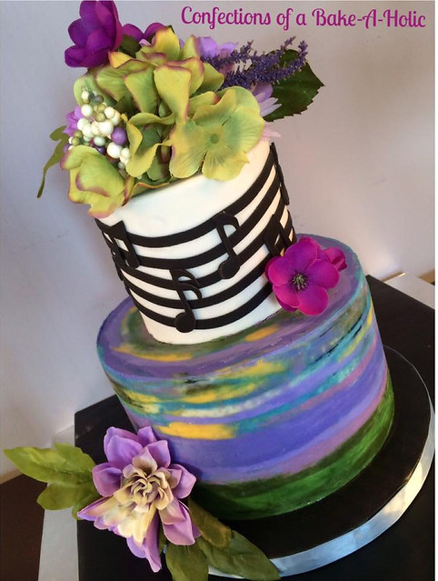 Monet Inspired Cake by Confections of a Bake a Holic