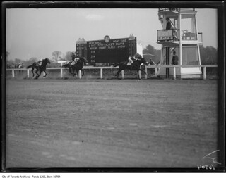 Thorncliffe race track, finishing post