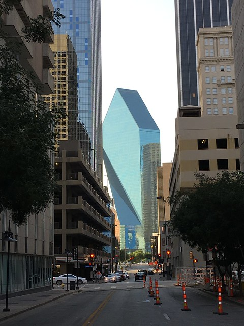 "Dallas 7-11 and ""diamond"" building"