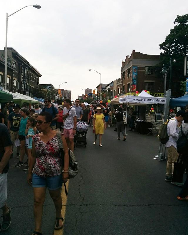 Looking west #toronto #bloordale #bloorstreetwest #bigonbloor #streetfestival #latergram