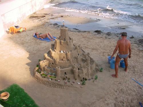 Castillos de arena... en Torrevieja