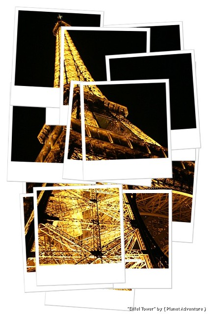 Eiffel Tower Hockneyized