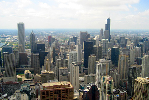 Chicago view from John Hancock