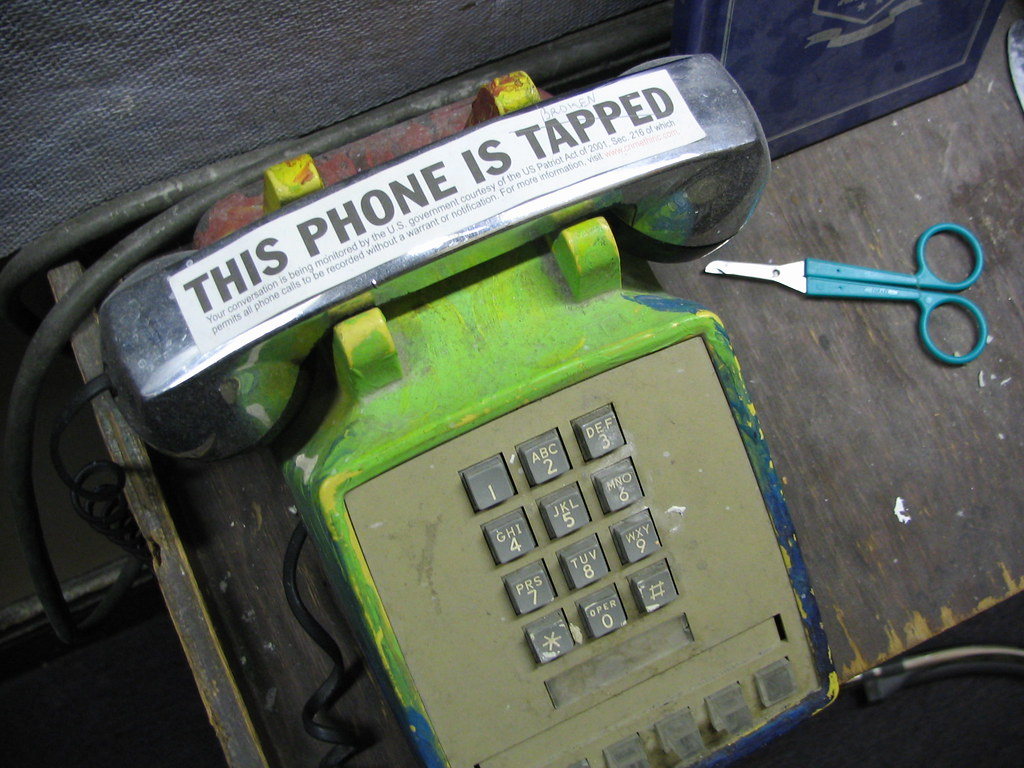 this phone is tapped photo