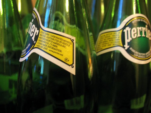 Perrier Bottles Everywhere