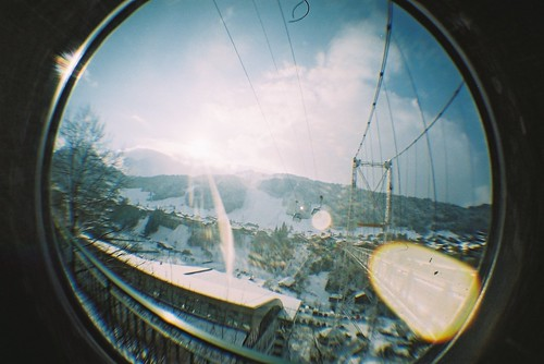 france skiing fisheye morzine