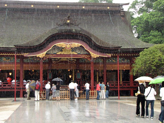 Dazaifu Tenmangu in the rain