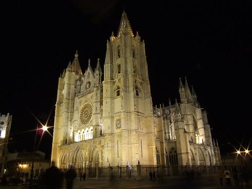 LEON-Catedral de noche