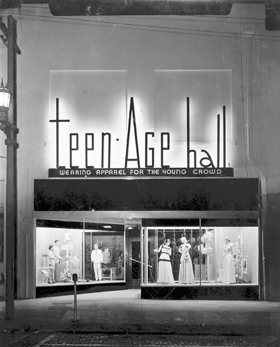 Teen-Age Hall Clothing Store. Tampa, Florida, 1947