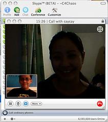 long distance sucks... Skype for Mac is virtue