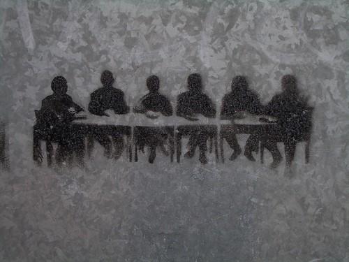 Meeting room stencil graffiti