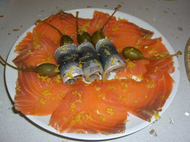 Smoked Salmon and Pickled Herring