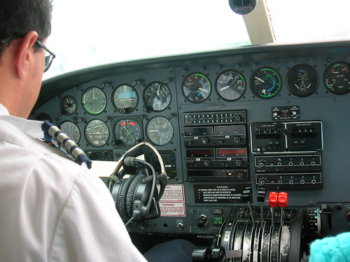 Cockpit of lil plane, flying to Veiques