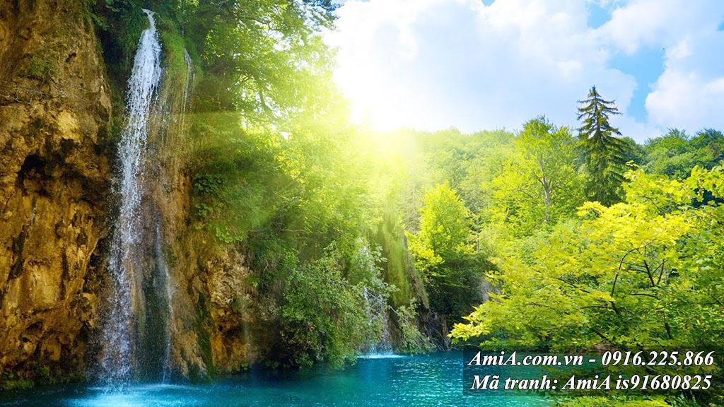 Tranh cảnh đẹp từ thiên nhiên phong cảnh thác nước