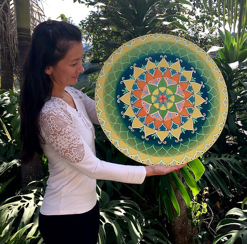 _Tropical Mandala,_ acrylic painting. From Fabiana Nakano