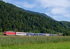NightJet zwischen Oberau und Farchant.
