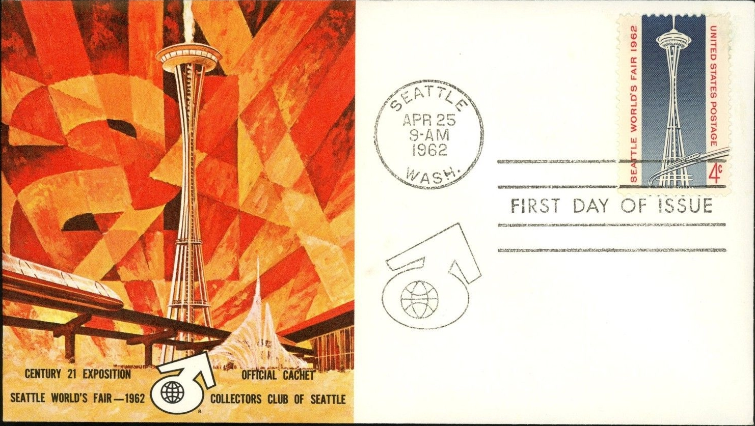 United States - Scott #1196 (1962) first day cover with cachet by the Collectors Club of Seattle.
