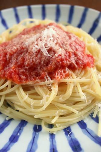 今日のパスタ スパゲッティ・ポモドーロ