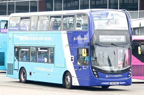 YY67 HDL 'ARRIVA Midlands' No. 4545 'arriva sapphire'. 'Alexander Dennis Ltd'. E40D / 'ADL' Enviro 400MMC /3 on Dennis Basford's railsroadsrunways.blogspot.co.uk'
