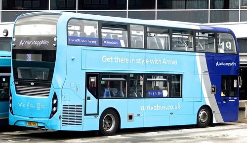 YY67 HDL 'ARRIVA Midlands' No. 4545 'arriva sapphire'. 'Alexander Dennis Ltd'. E40D / 'ADL' Enviro 400MMC /4 on Dennis Basford's railsroadsrunways.blogspot.co.uk'
