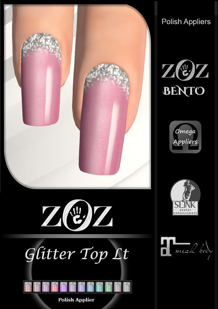 {ZOZ} Glitter Top lt pix L