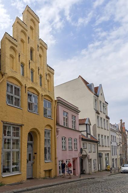 Charming street in Lübeck, Germany