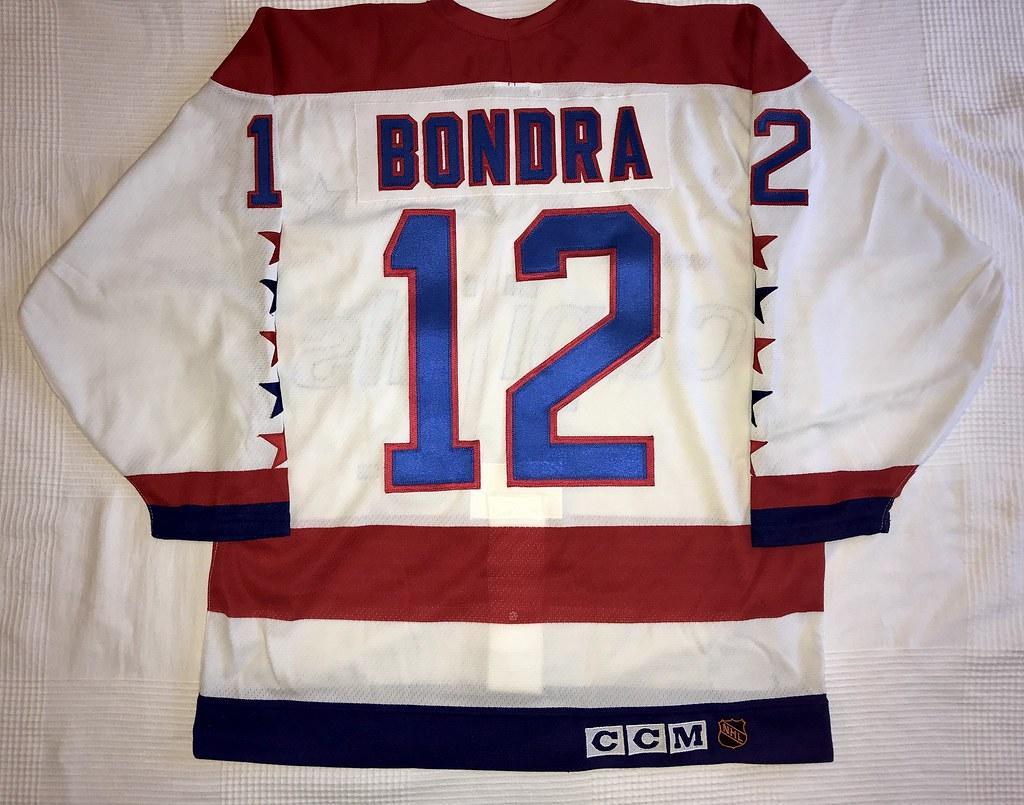 1992-93 Peter Bondra Washington Capitals Home Jersey Back