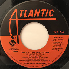 THE SYSTEM:DON'T DISTURB THIS GROOVE(LABEL SIDE-A)