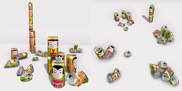 kokeshicha cans