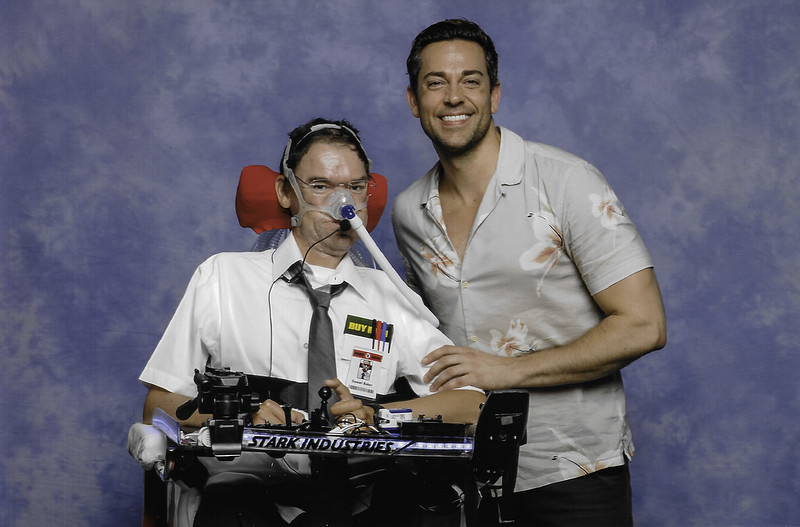 Daniel Baker with Zachary Levi at LFCC 2018