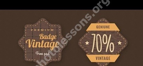 Vintage stamps Photoshop in PSD format