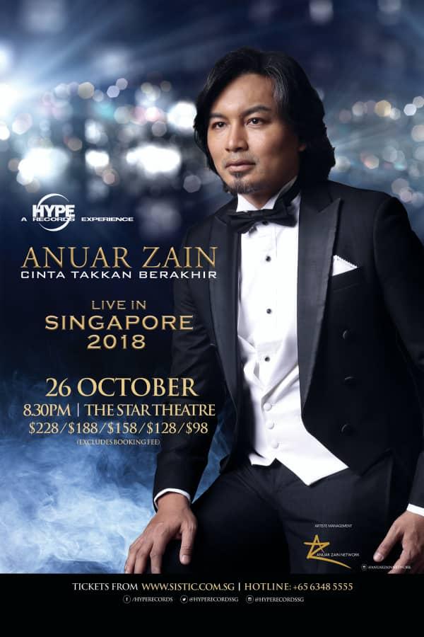 Anuar Zain Cinta Takkan Berakhir Live In Singapore 2018