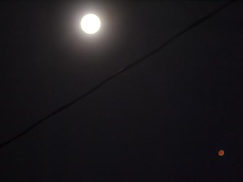 Full moon; Mars perihelion opposition