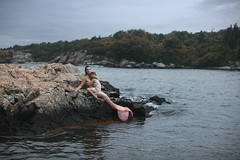 Image by aleah michele (-si-tu-savais-) and image name Mermaid and the human child. photo
