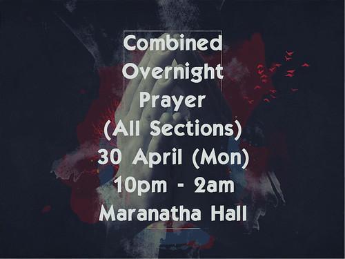 combined overnight prayer