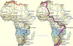 1000 Geplante und eff Route