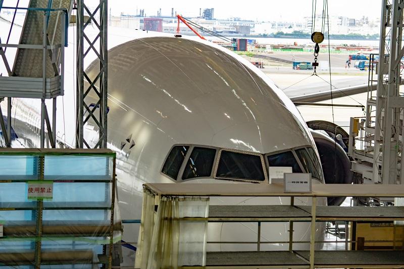 180722 ANA機体工場見学「B777-300コクピット2」