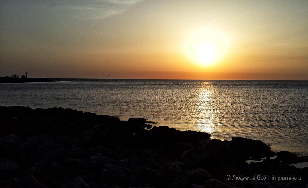 Черное море в Крыму закат