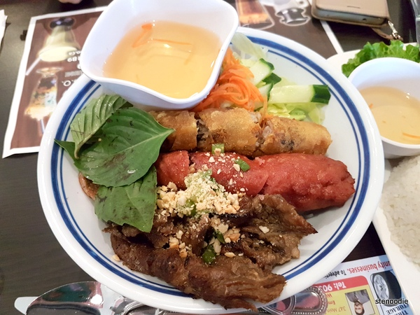 Grilled Pork, Spring Roll & Pork Sausage with Vermicelli