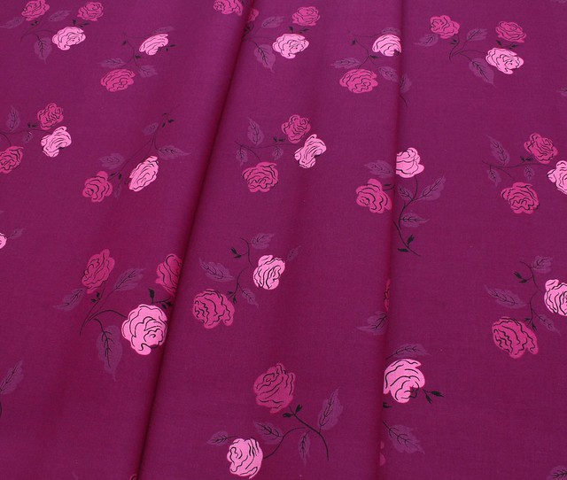 COTTON+STEEL Steno Pool 3065-02 Roses Magenta